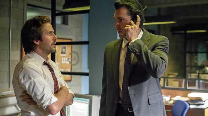 Michael Stahl-David and Matt Whelan in a scene from season three of Narcos.