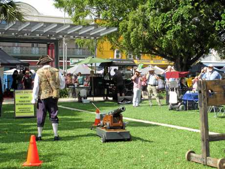 The official launch of Legacy Week went off with a bang on the Town Hall green during Thursday's Heritage Markets in Maryborough.