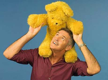 A KID AT HEART: Andrew McFarlane still delights in playing with the real stars of Play School, like Big Ted, and having been part of children's development for 17 years.