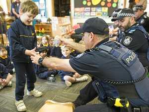 Officers turn into kindergarten cops for special visit