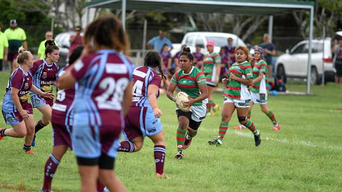Seagull Sinetta Broome. Bundaberg Rugby League women's match: Hervey Bay Seagulls v Isis Devils at Eskdale Park, Maryborough.