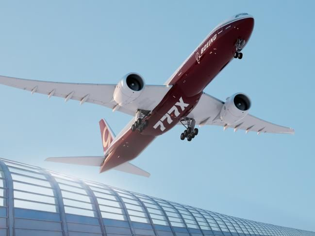 Boeing's 777-8X has a range of about 16,000km.