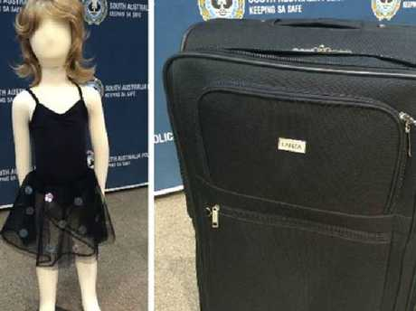 Police released a photo of clothing and suitcase relating to the murder of Khandalyce.