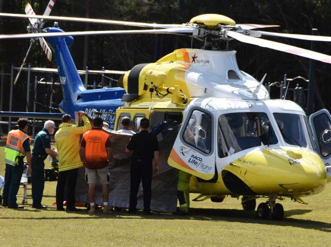 LifeFlight paramedics airlifted the boy to the Lady Cilento Children's Hospital yesterday afternoon.