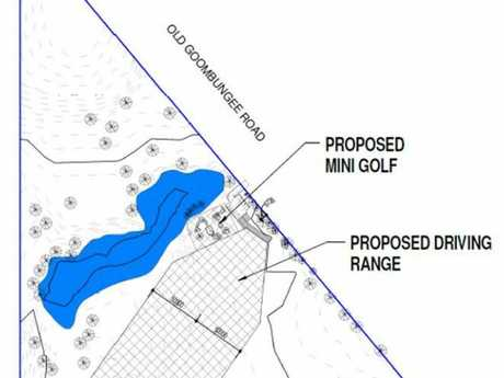 Potential driving range and mini golf course site map north of Toowoomba.