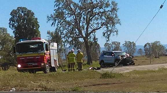Emergency Services are on scene at a crash north of Mackay.