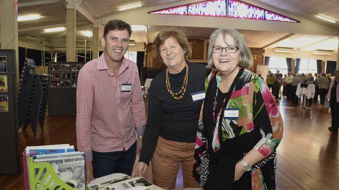 Rohan Davis, Christine Gilshenan and Cathy Mason at the Fairholme College staff reunion.