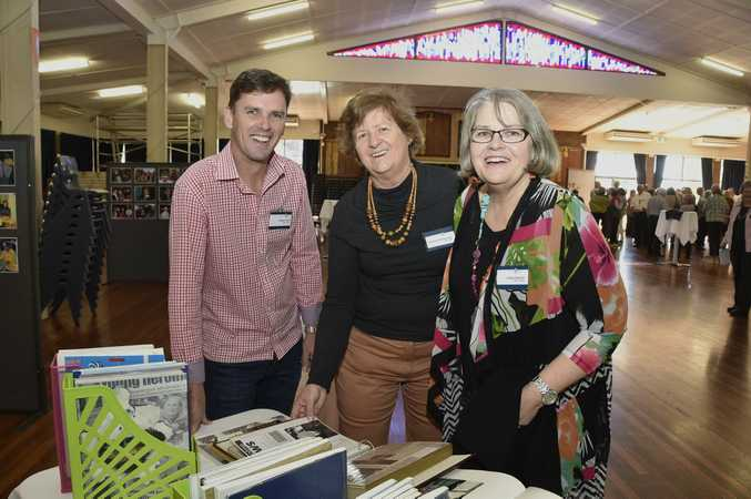 Rohan Davis, Christine Gilshenan and Cathy Mason at the Fairholme College staff reunion.