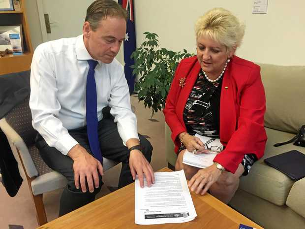 NO CUTS: Minister for health Greg Hunt and Capricornia MP Michelle Landry have denied there will be any cuts to home visiting doctor services.