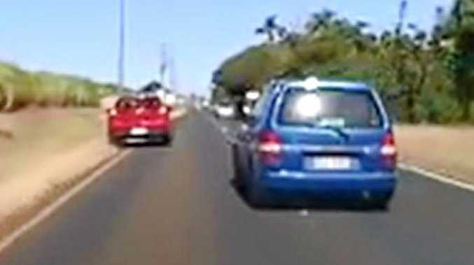 NEAR MISS: Dash cam footage shot along Burnett Heads Rd.Photo Contributed