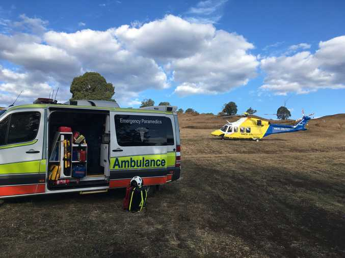 Motocross crash in Darling Downs, north of Crows Nest.