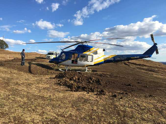 27-year-old motocross rider rushed to hospital by LifeFlight Toowoomba.