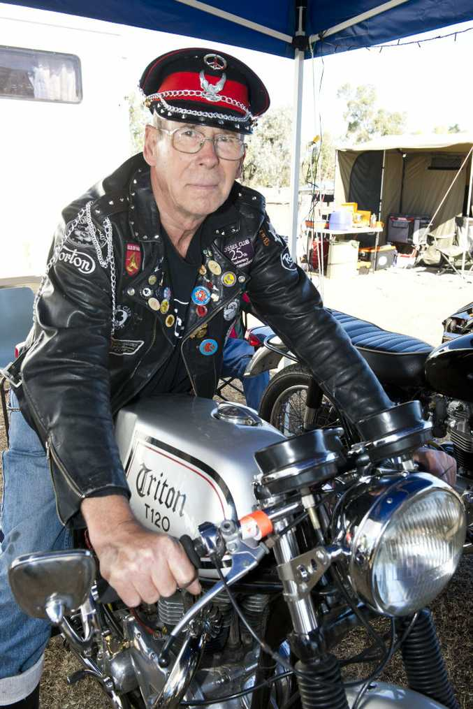 Graham Rattledge on his Triton T120 at the Woolshed Classic at Jondaryan Woolshed.
