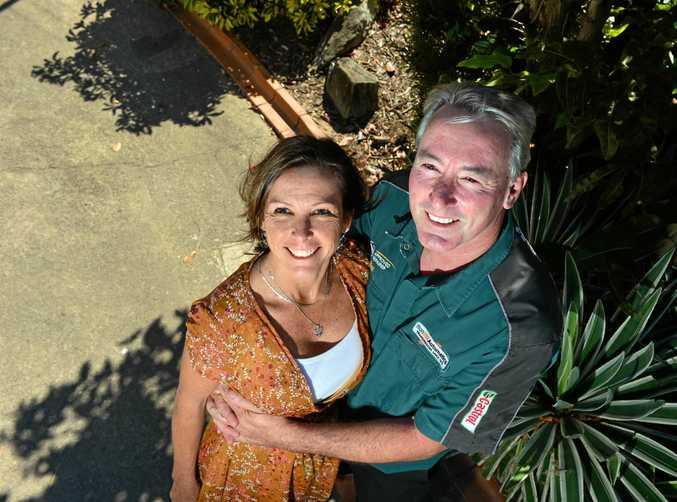HAPPY: Sandra and Bill Olah on the Sunshine Coast.