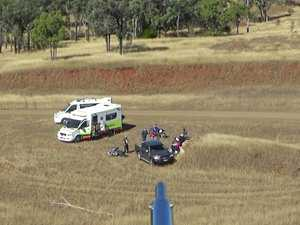 Teen bike rider injured after head-first fall off two metre drop