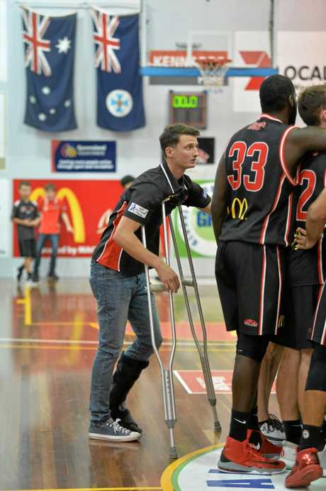 Mackay Meteors v Townsville Heat in game two of the men's QBL Championships at The Crater on Saturday, August 26, 2017.