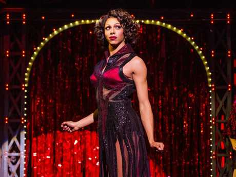 Callum Francis as Lola in a scene from the stage musical Kinky Boots.