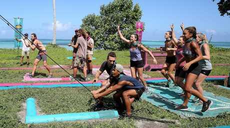 Asaga beat Samatau in last night's immunity challenge on Australian Survivor.