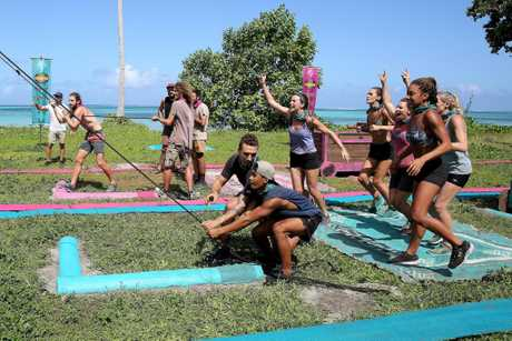 Asaga beat Samatau in last night's immunity challenge on Australian Survivor.