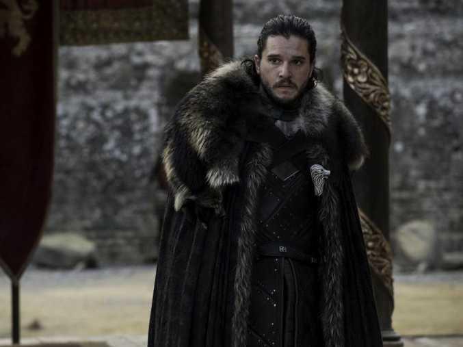 Kit Harington as Jon Snow in a scene from season 7 episode 7 of Game of Thrones.