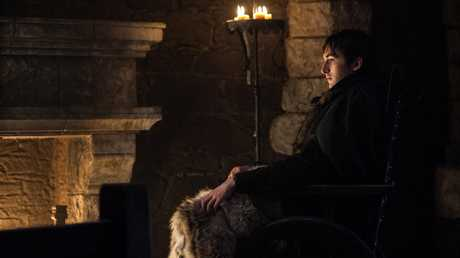 Isaac Hempstead Wright as Bran Stark in a scene from season 7 episode 7 of Game of Thrones.