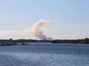 Fire breaks out, smoke plume visible across Coast
