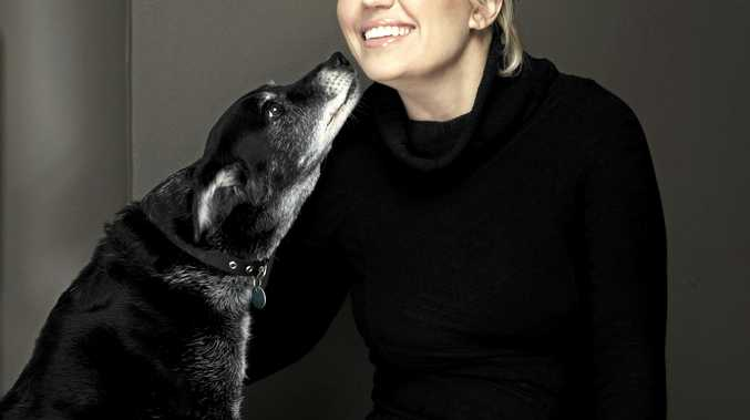Melinda Schneider and her late dogs Rosy and Daisy who starred in her stage show. Melinda is after a well-trained Clarence Valley dog to join her on stage for a song during her upcoming Saraton Theatre tribute show to Doris Day.