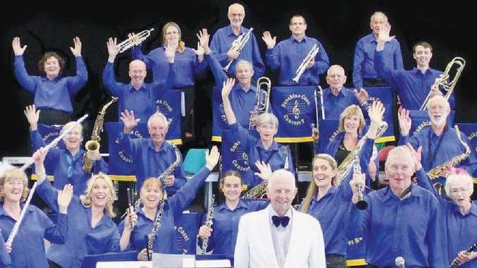 READY TO ROCK: The Sunshine Coast Concert Band.