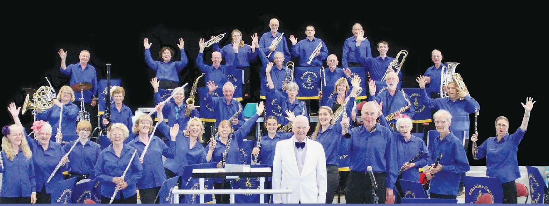 READY TO ROCK: The Sunshine Coast Concert Band.
