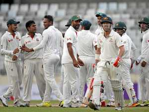 Bangladesh fights back as Australia collapses
