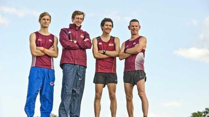 Cross country runners (left to right) Ben Drew, Jack Tiernan, Ben MacCronan and Matt Macdonald. Wednesday Aug 10 , 2016.