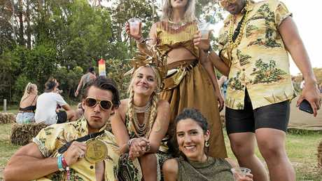 Festival goers at Falls Festival in Byron Bay. Photo: Niche Pictures - Lyn McCarthy