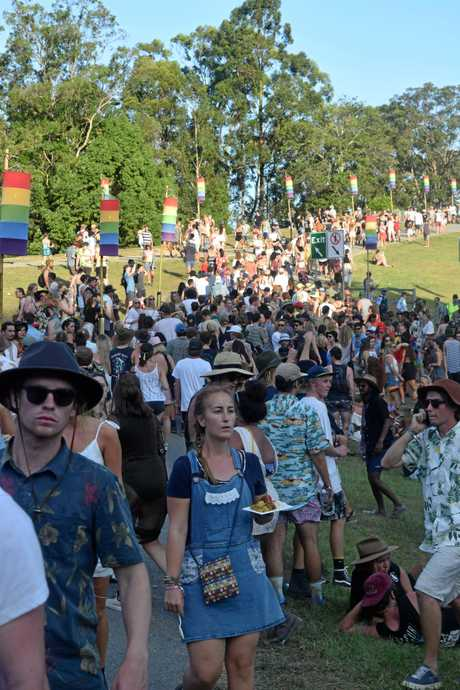 Festival goers moved around safely and easily at the first day of Falls Festival Byron Bay 2016-17.