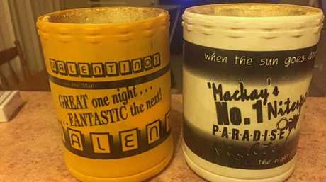 John O'Neill shared this photo of a couple of stubbie coolers from Paradise and Valentino's nightclubs: