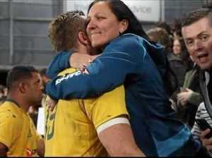 Mum makes it to Bledisloe Cup for Izack's first game