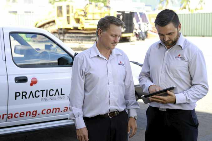 Practical Engineering managing director Rod Tait (left) and business development manager Nigel Kruger.