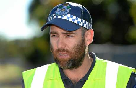 Snr Sergeant Daniel Beasy  talks about operation stopper during Road Safety Week.