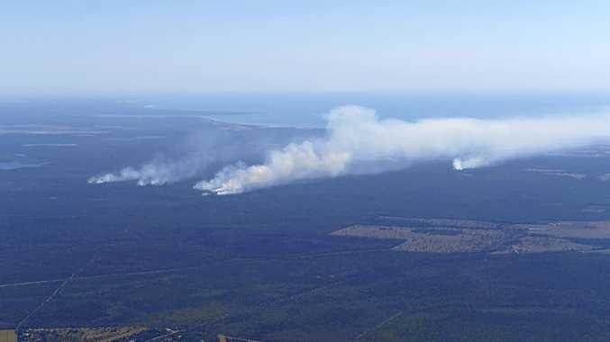 Fraser Coast Takura Fire aerial.