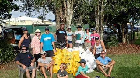 SURG participants collected over 30 clean-up Australia Day bags of rubbish along Coffs Creek.