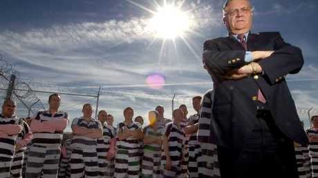 Tough talking Sheriff Joe Arpaio forced inmates to wear pink underwear.Source:Supplied