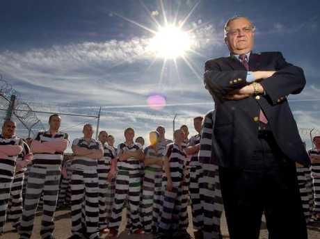 Tough talking Sheriff Joe Arpaio forced inmates to wear pink underwear.Source:Supplied
