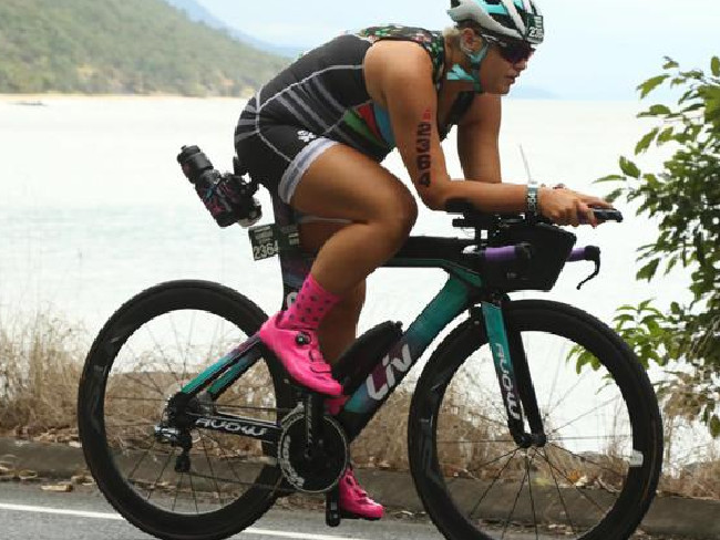 Elle's ultimate goal is to race in the Kona triathlon world championship. Photo: Facebook Source:Facebook