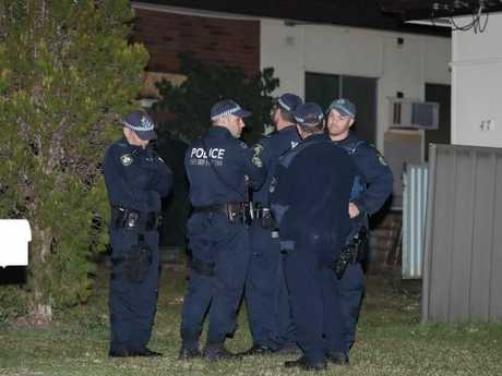 The three-year-old was at a home in Lalor Park with several other young children when she suffered a gunshot wound to her neck.