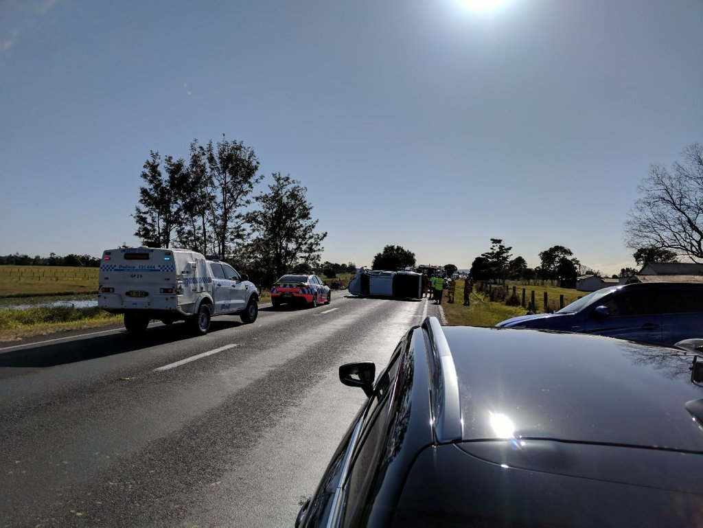 The Pacific Highway was closed due to a fatal collision on the Pacific Highway near Cowper on Saturday, 26th August, 2017.