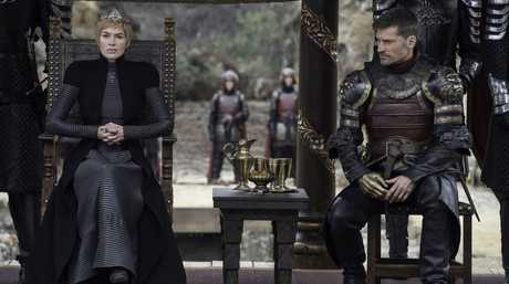 Lena Headey and Nikolaj Coster-Waldau in a scene from the season 7 finale of Game of Thrones.