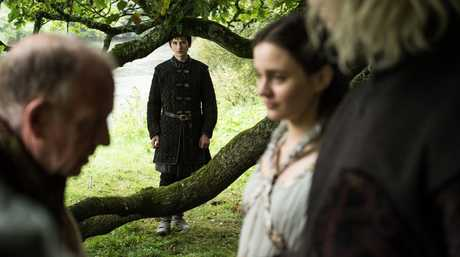 Isaac Hempstead Wright, centre, in a scene from the season 7 finale of Game of Thrones.