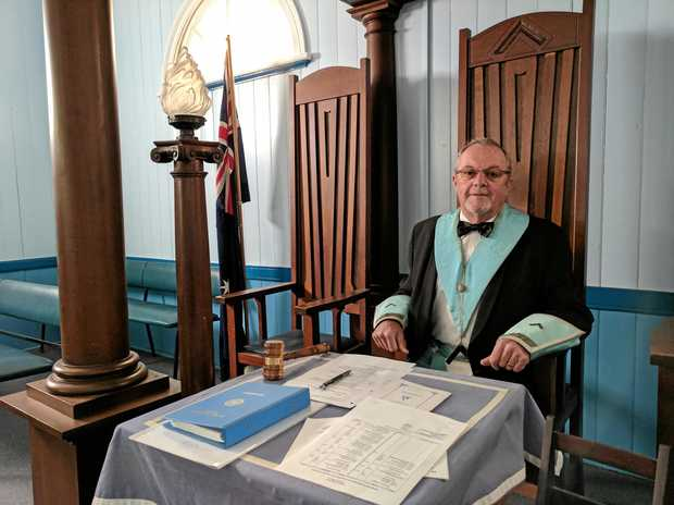 MASTER MASON: David Green took his place as the Master of the Gatton Masonic Lodge on Saturday evening.