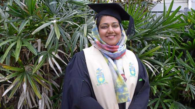 RECENT GRADUATE: Amna Anwar completed a Certificate III in Early Childhood Education and Care at CQU.