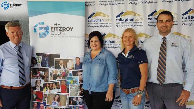 NEWEST MEMBER: The Fitzroy Club welcomes Rockhampton Jockey Club CEO Tony Fenlon (left), Kelly Suli, Leesa Olive, Darryn Nufer.