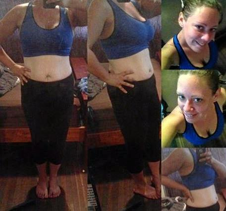 AFTER: Sarah Nixon has a new lease on life after she drastically changed her diet and fitness. She lost 35kgs in 12 months.